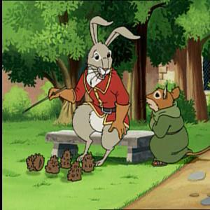 Матиас: Бэзил, это послание? Бэзил: Это-крысиный помет. Хотя ты прав, может крысы нас так посылают... (крыска)